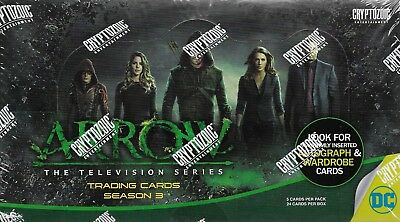 ARROW Season 3 Factory Sealed Box - Autographs, Props and Wardrobe Cards