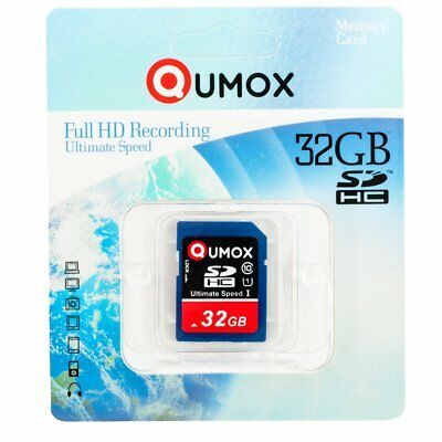 32GB QUMOX 80MB/s SD HC 32 GB Class 10 UHS-I Secure Digital scheda di memoria R