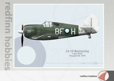Warhead Illustrated CA-19 Boomerang 5 Sqn RAAF Aircraft Print