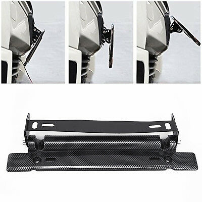 1x Universal Carbon Fiber Number Car Racing License Plate Frame Holder Parts