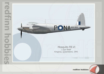 Warhead Illustrated Mosquito FB.VI 1 Sq RAAF NA-P Aircraft Print