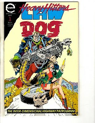 Lot Of 10 Heavy Hitters Law Dog Comic Books # 1 2 3 4 5 6 7 8 9 + Grimrod CR25