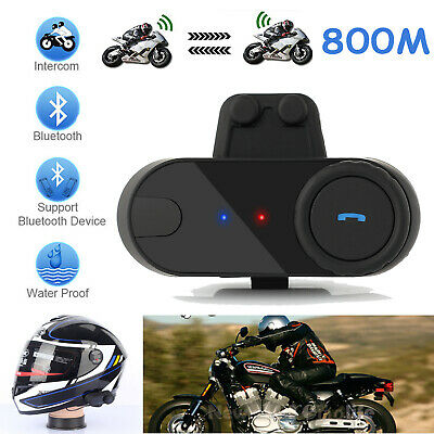 800M BT Motorcycle Bluetooth Intercom System Motorbike Interphone Helmet Headset