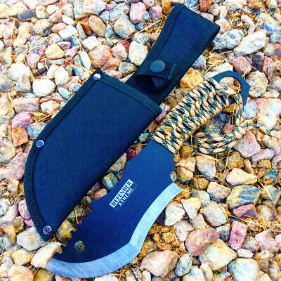 "10.5"" Defender Xtreme Hunting Knife Full Tang with Camo Nylon Wrapped Handle"