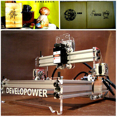 2000mW Desktop Laser Engraving Machine Logo Marking Printer Engraver Cutting