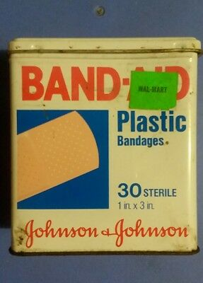Vintage Johnson & Johnson Band-Aid Bandages Metal Tin Container Box Only