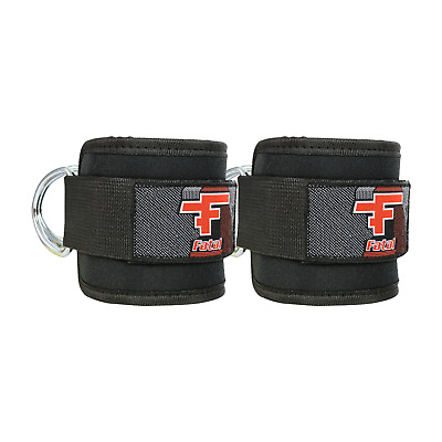 Fatal Adjustable Ankle Support Gym Strap Black (sold in pair)