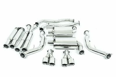 """Stainless Holden Commodore Ve / Vf Ss Sedan L77 L76 L98 Twin 3"""" Catback Exhaust"""