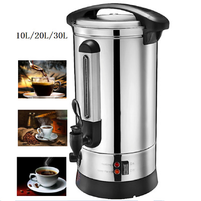 Electric Stainless Steel Catering Hot Water Boiler Tea Urn Drinks Equipment New