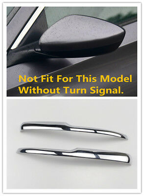 For Honda Accord 2018 Outer Side Door Rear View Mirror Cover Strip Trim Chrome