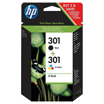 Original HP 301 Black & Colour Combo Ink Cartridge Pack for HP Deskjet 1050A