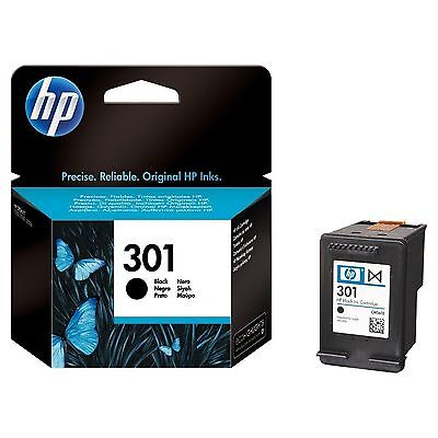 Original HP 301 Deskjet Ink Cartridge Black (CH561EE) for HP ENVY 4504 (A9T88B)