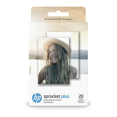 HP Sprocket Plus Zink Photo Paper - 20 sheets (2.3 x 3.4 inch)