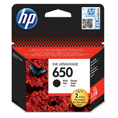 Genuine New HP 650 Black Original Ink Cartridge (CZ101AE)
