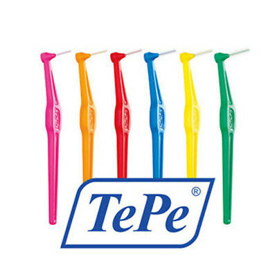 Genuine New Tepe Angle Interdental Brush all Colours/Sizes Pack of 6-12 brushes