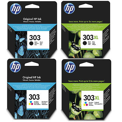 Genuine HP 303 / 303XL Black and Colour Ink Cartridges for Envy Photo 6230 7130