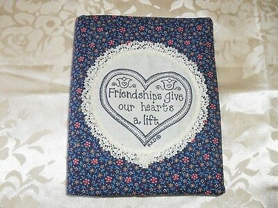 Vintage handcrafted material covered address/telephone/birthday book in EC New