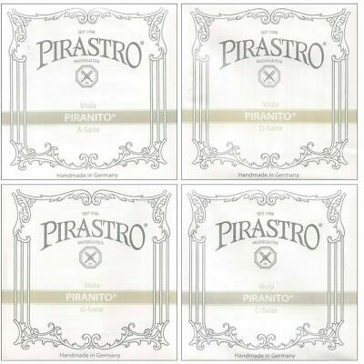 "Pirastro Piranito Viola String Set  Full Size up to 16 1/2"" Made in Germany"