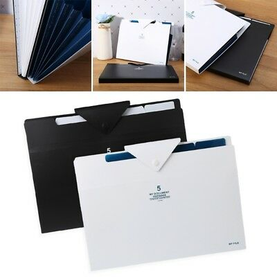 5 layer Expanding File Folder Organ Bag A4 Organizer Paper Hold Document Folder