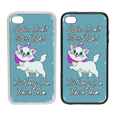 Ladies Don't Start Fights - Blue - Rubber and Plastic Phone Cover Case #2