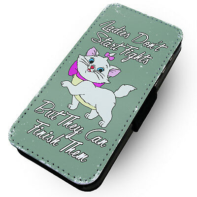 Ladies Don't Start Fights - Green - Printed Faux Leather Flip Phone Case #2