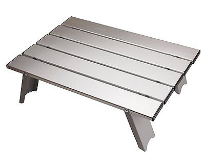 Camping Table Low Portable Black Aluminum Folding Captain Stag Small UC-520