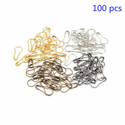 100x METAL SAFETY PIN STITCH MARKER KNITTING CROCHET CRAFT HOLDERS SEWING NEEDL