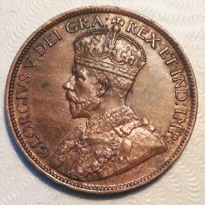 -Canada 1918 George V One 1 Large Cent