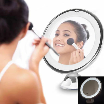 Circular Suction LED Make Up X10 Magnifying Mirror with 360° Rotation #B2