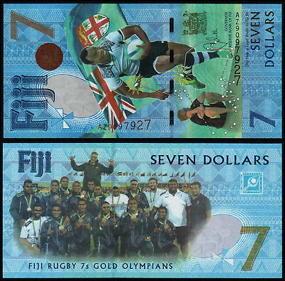 FIJI 7 DOLLARS (P120ar) 2017 COMMEMORATIVE ISSUE AZ- REPLACEMENT UNC