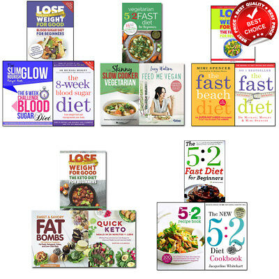 Vegetarian Fast 5:2 Diet Recipe Blood Sugar collection Keto Cookbook books set