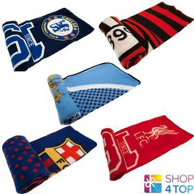 Official Football Soccer Club Team Fan Fleece Blanket Throw Cover Quilt Wrap New