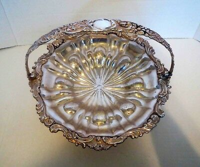 Large SILVER BASKET BOWL Antique - EXTRAORDINARY REPOSE WORK
