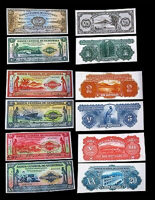 1940s Banco Central de Guatemala Q0.50 1 2 5 10 20 quetzales Copy Reprints