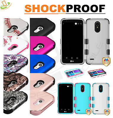 Hybrid Shockproof Armor Rubber Rugged Protective Hard Case Cover For LG K30 X410