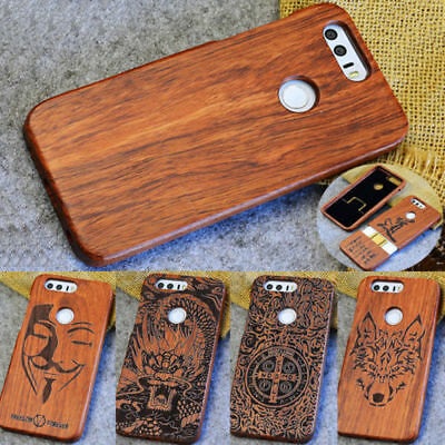 Natural Wooden Wood Bamboo Case Cover For Huawei P20 Honor Mate 10 Pro P10 Plus