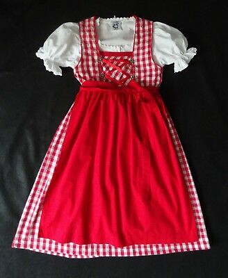 German Bavarian Girls 3 pc. Authentic Dirndl 9-10 years