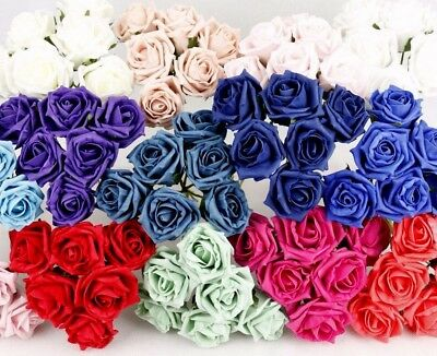 Wholesale Navy Blue Artificial Flowers Wooden Roses Ideal Home Decor