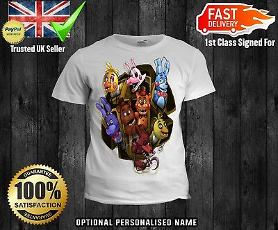 T-shirts, Tops & Shirts Five Nights At Freddys Fnaf Optional Personalised Kids T Shirt Spooky 2 Easy To Use