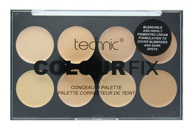 Technic Cream Concealer Colour Fix 8 Colour Palette-Light Innovative Design