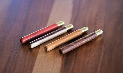 "Exotic Wood One Hitter Bat w/ Brass Head- 3"" length pipe for smoking"