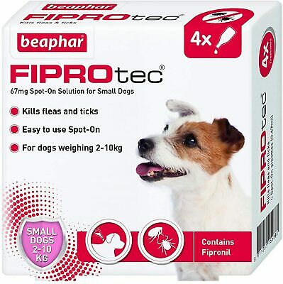 Beaphar Fiprotec Spot On Small Dogs (5-10kg) 4 Treatments Flea Tick 15 Weeks