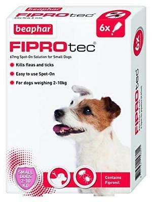 Beaphar Fiprotec Spot On Small Dogs (5-10kg) 6 Treatments Flea Tick 30 Weeks