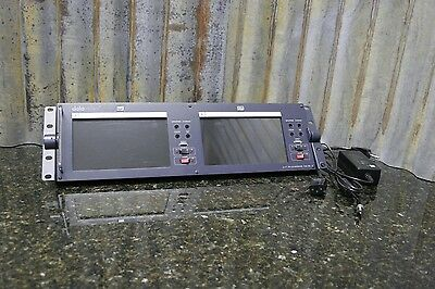 """Datavideo TLM-702 2x7"""" Rackmount LCD Broadcast Monitor Great Condition Free S&H"""