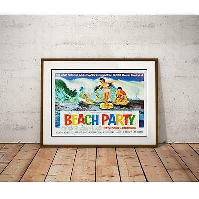 Beach Party Poster - Frankie Avalon Annette Funicello On Surfboards