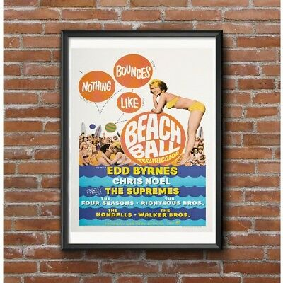Beach Ball Movie Poster - 1960's Beach Movie with Popular Rock Bands