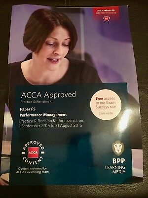 ACCA F5 Performance Management Practice & Revision Kit New by BPP