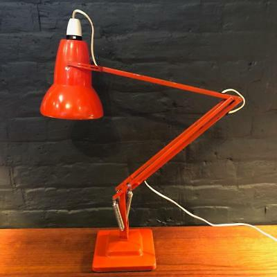 Vintage Herbert Terry Orange Anglepoise Lamp Light #2339