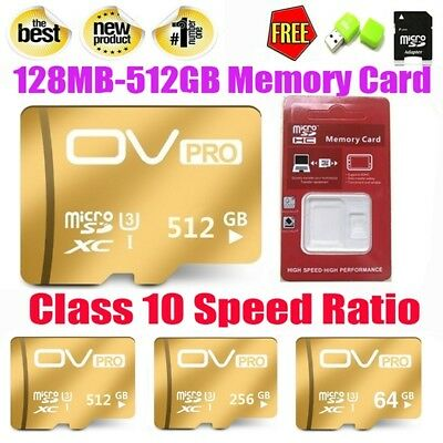8-512GB Micro SD card TF Flash Memory Card Class 10 for Cell phone Camera Lot
