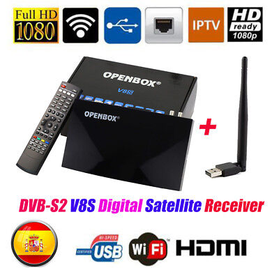 V8S PRO Satellite TV Receiver DVB-S2  FTA HD 1080P Support YouTube Web TV